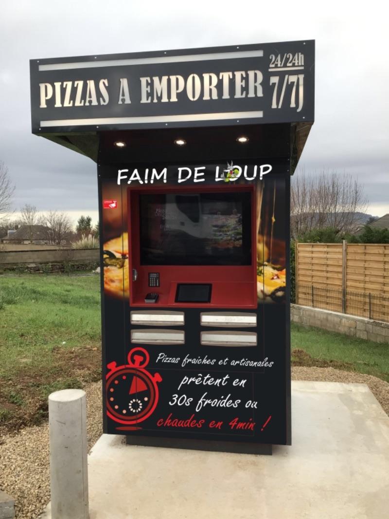 Truckfly - Distributeur pizzas Faim de loup